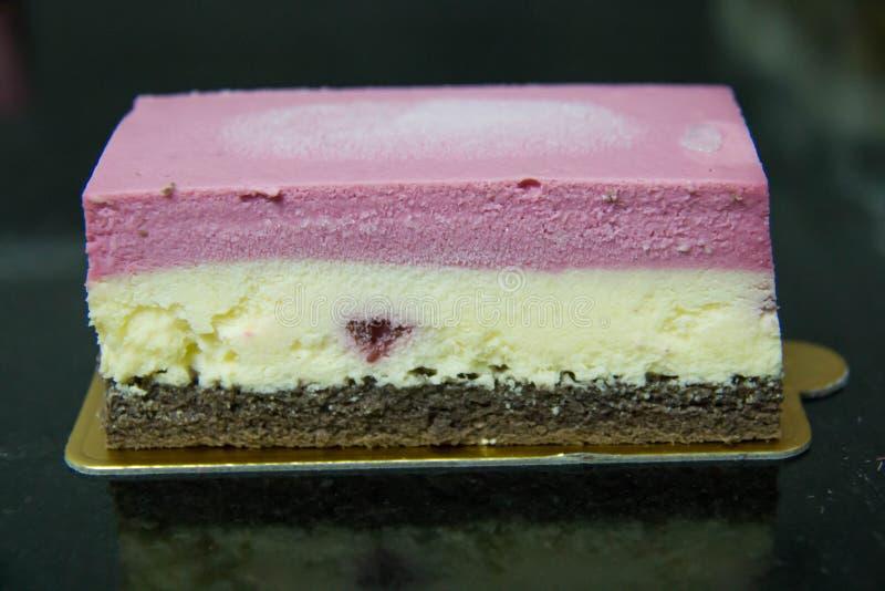 Ελαφρύ επιδόρπιο: μικτό cheesecake σμέουρο στοκ εικόνες με δικαίωμα ελεύθερης χρήσης
