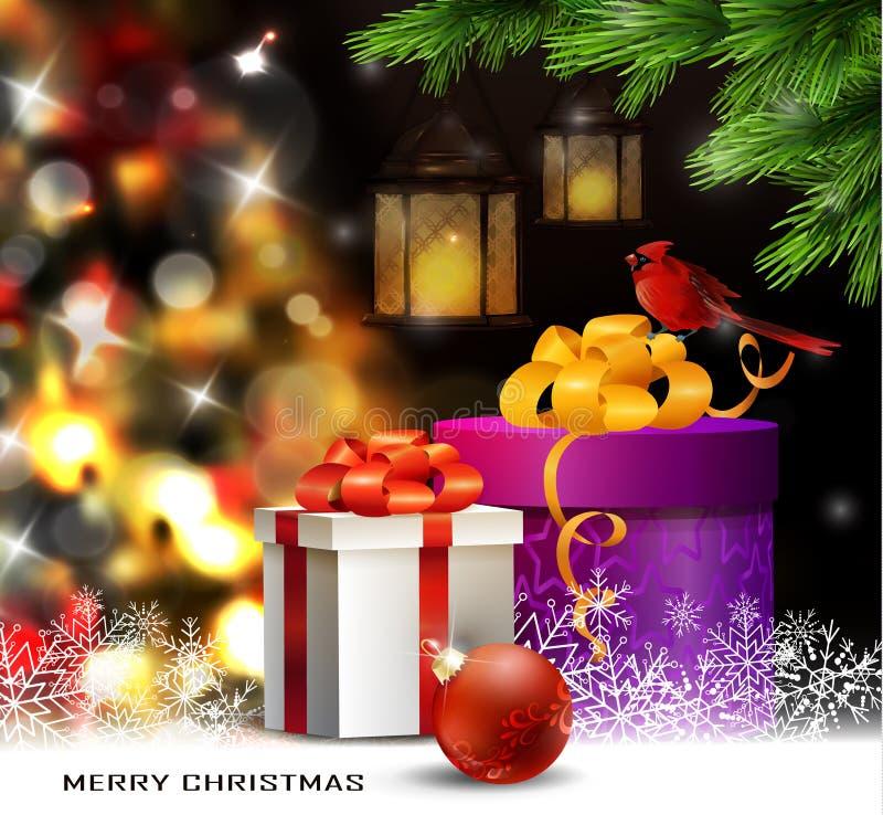 Ελαφρύ υπόβαθρο χριστουγεννιάτικων δέντρων διανυσματική απεικόνιση