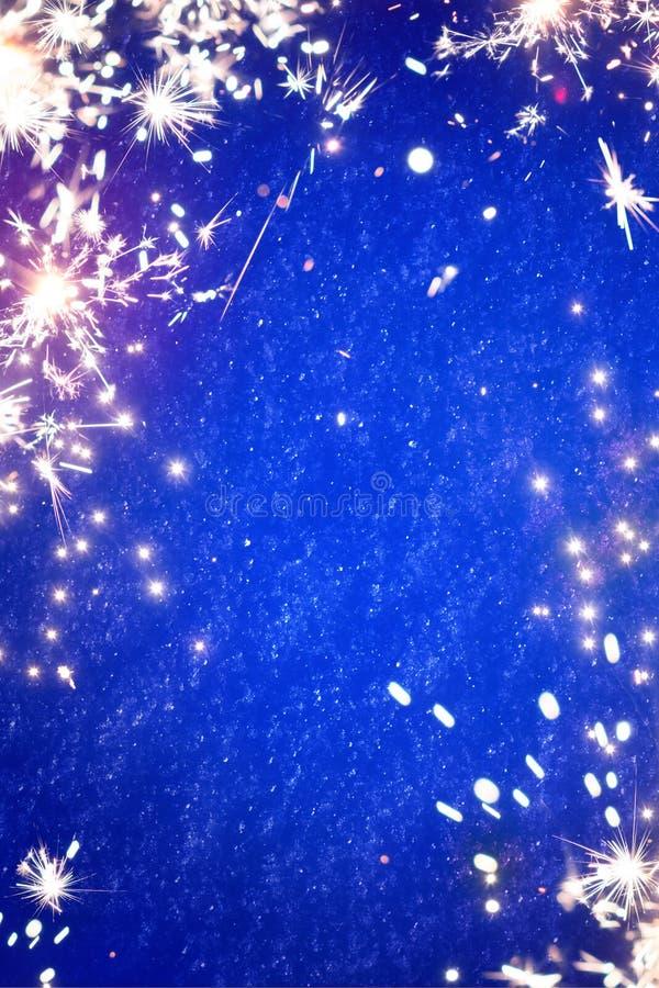 Ελαφρύ υπόβαθρο sparklers Χριστουγέννων τέχνης μαγικό στοκ εικόνα