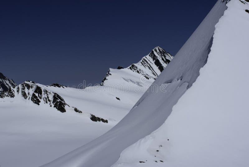 Ελβετική άποψη Άλπεων από την καλύβα Mönchsjoch στοκ εικόνες