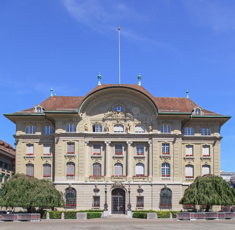 Ελβετική πρόσοψη της National Bank στοκ φωτογραφία