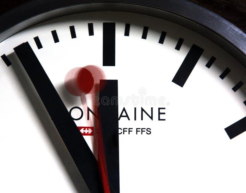 Ελβετικό ρολόι σιδηροδρόμων στοκ εικόνες