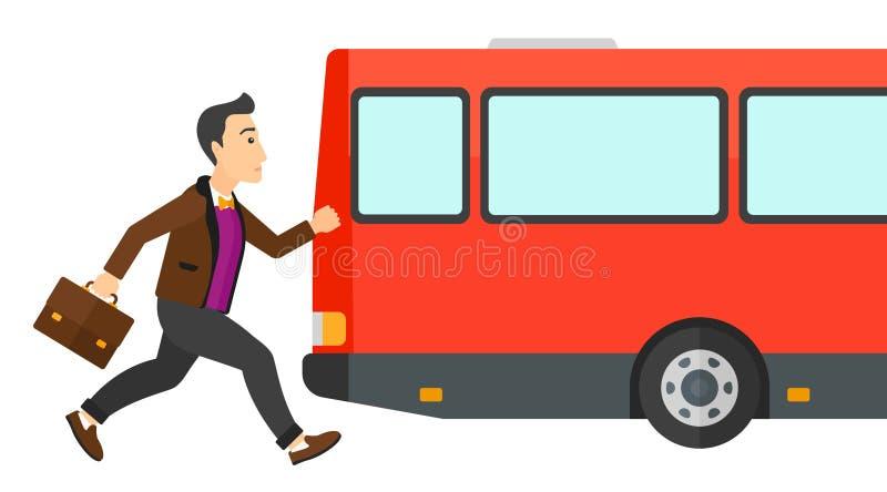 Ελλείπον λεωφορείο ατόμων διανυσματική απεικόνιση