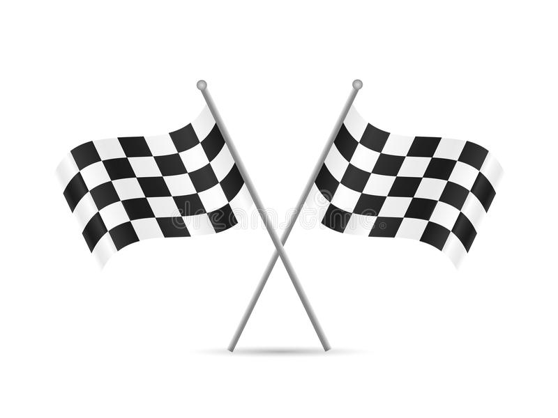 ελεγμένες σημαίες απεικόνιση αποθεμάτων
