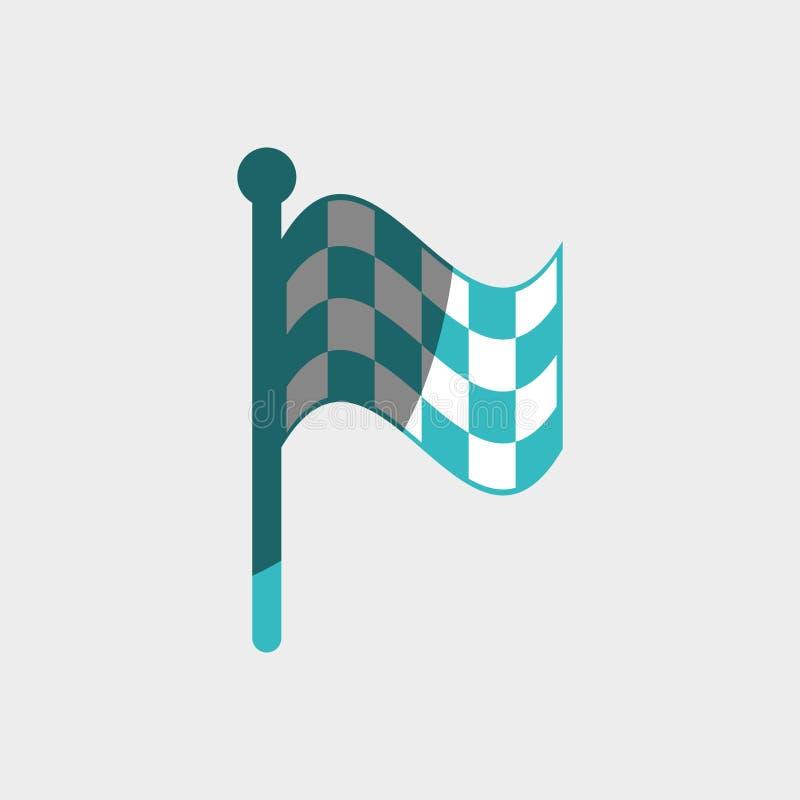 ελεγμένο σχέδιο σημαιών διανυσματική απεικόνιση