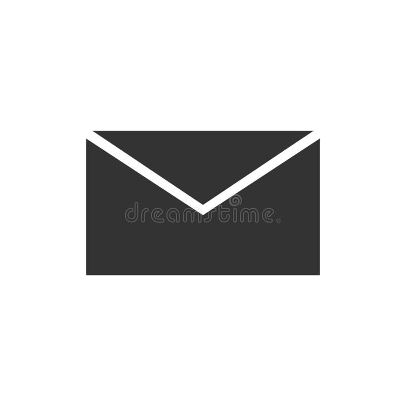Ε - εικονίδιο ταχυδρομείου επίπεδο διανυσματική απεικόνιση