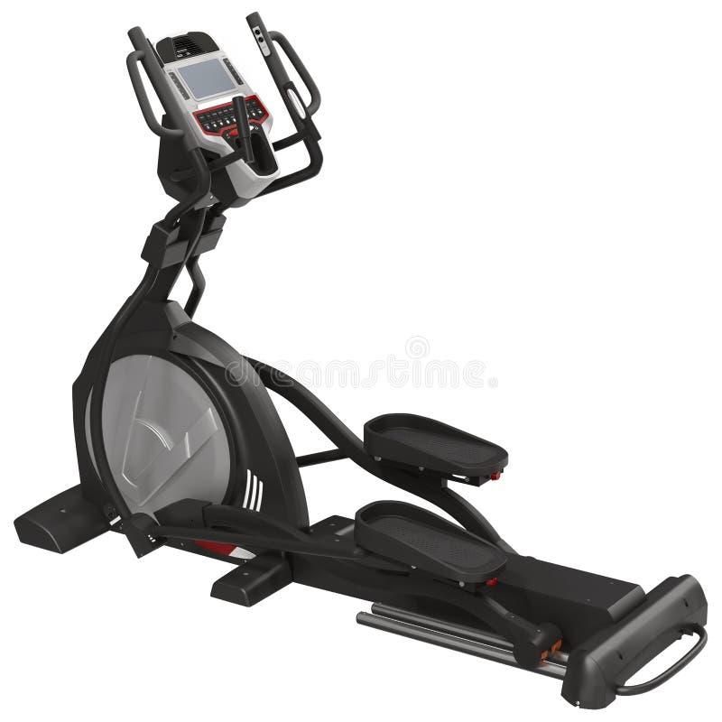 Ελλειπτική μηχανή γυμναστικής πέρα από την άσπρη τρισδιάστατη απεικόνιση απεικόνιση αποθεμάτων