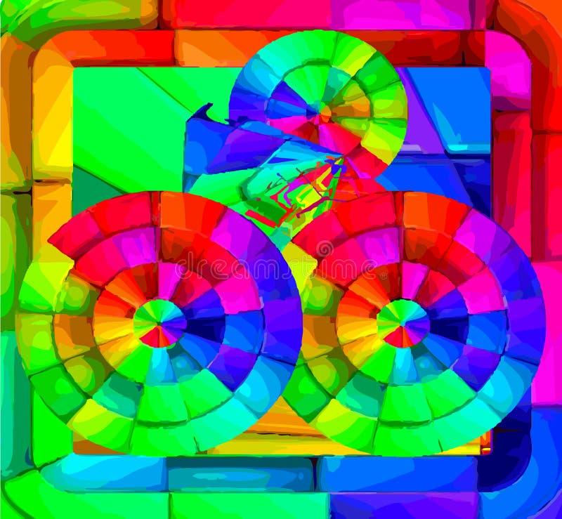 Ελεύθερα αφηρημένα τετράγωνα στοκ φωτογραφίες