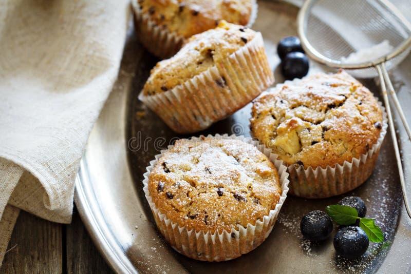 Ελεύθερα muffins αμυγδάλων και βρωμών γλουτένης στοκ φωτογραφία με δικαίωμα ελεύθερης χρήσης