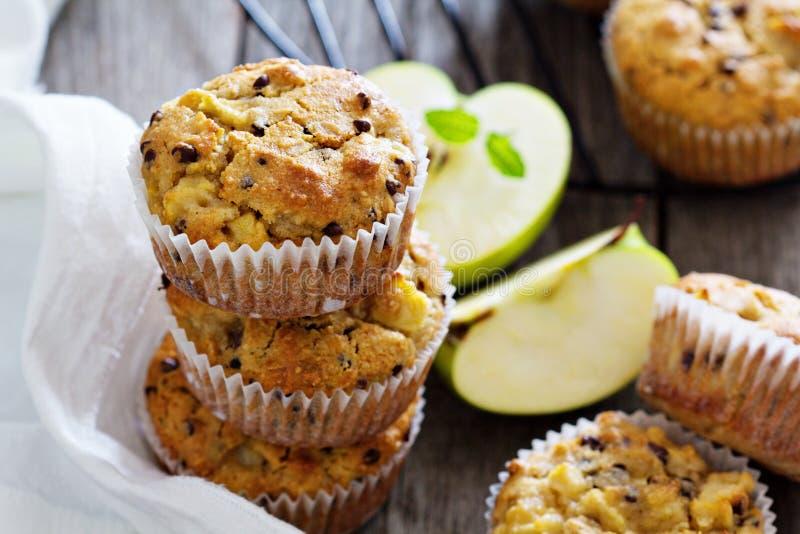 Ελεύθερα muffins αμυγδάλων και βρωμών γλουτένης στοκ εικόνα