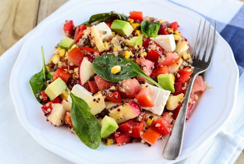 Ελεύθερη quinoa γλουτένης σαλάτα στοκ φωτογραφίες
