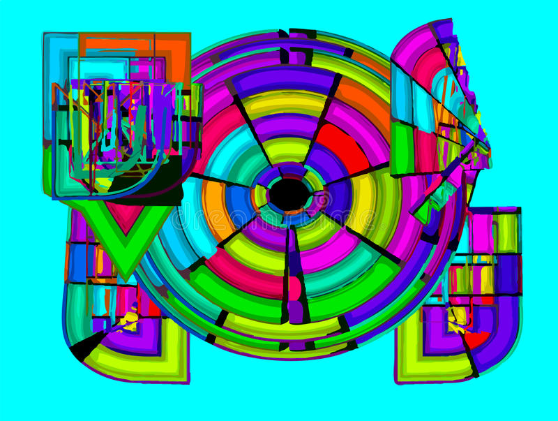 Ελεύθεροι αφηρημένοι κύκλοι διανυσματική απεικόνιση
