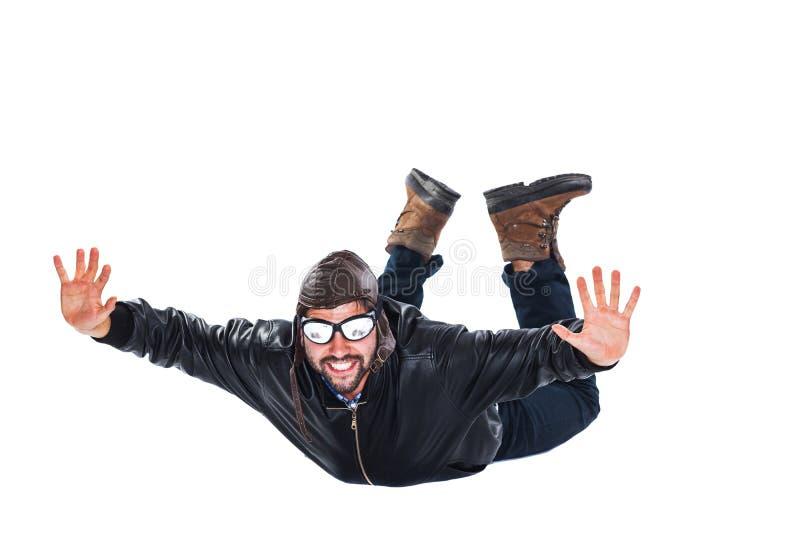 Ελεύθερος ευτυχής πειραματικός πτώσης στοκ εικόνα
