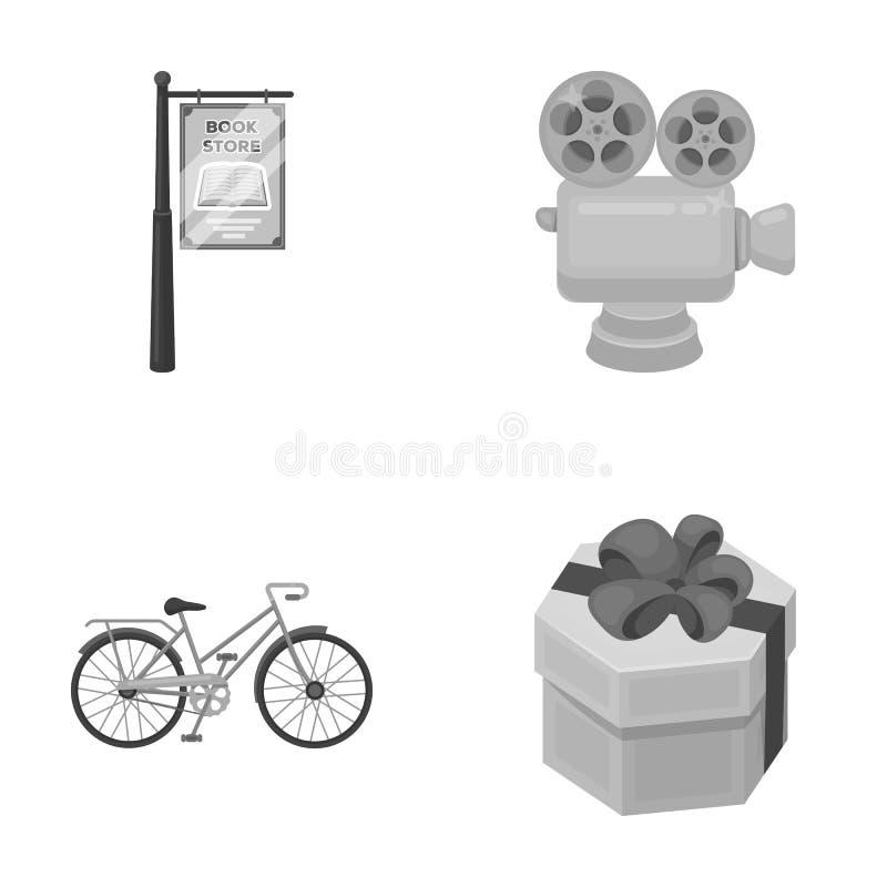 Ελεύθερος χρόνος, επιχείρηση, κινηματογραφία και άλλο εικονίδιο Ιστού στο μονοχρωματικό ύφος κορδέλλα, ντεκόρ, δώρο, εικονίδια στ διανυσματική απεικόνιση
