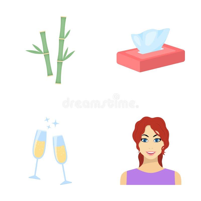 Ελεύθερος χρόνος, ψυχαγωγία, επιχείρηση και άλλο εικονίδιο Ιστού στο ύφος κινούμενων σχεδίων σύνθεση, hairstyle, κόκκινα εικονίδι διανυσματική απεικόνιση