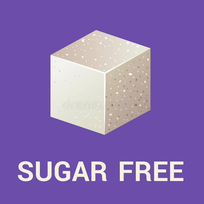 Ελεύθερο εικονίδιο ζάχαρης επίπεδο διανυσματική απεικόνιση