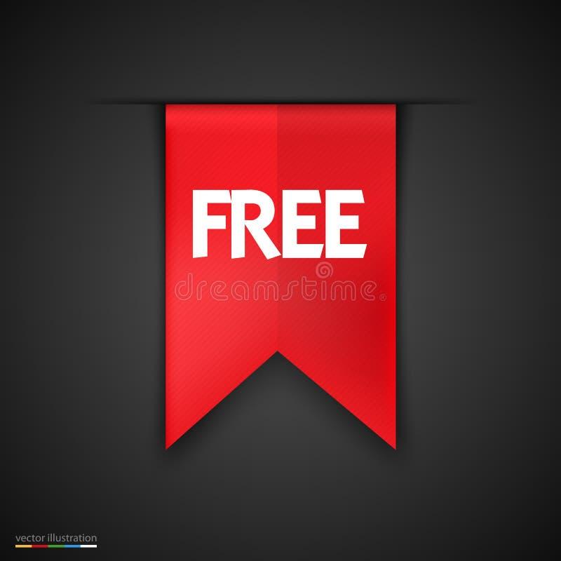 Ελεύθερο διανυσματικό σχέδιο εικονιδίων ετικετών προϊόντων κόκκινο ελεύθερη απεικόνιση δικαιώματος