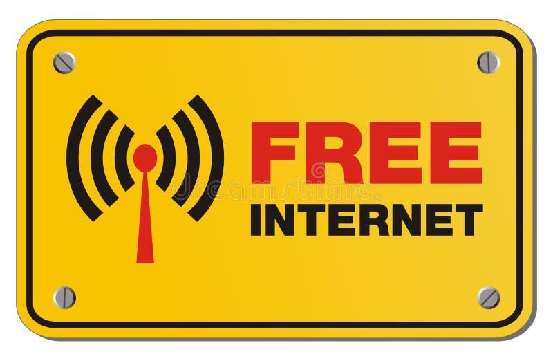 Ελεύθερο κίτρινο σημάδι Διαδικτύου - σημάδι ορθογωνίων ελεύθερη απεικόνιση δικαιώματος