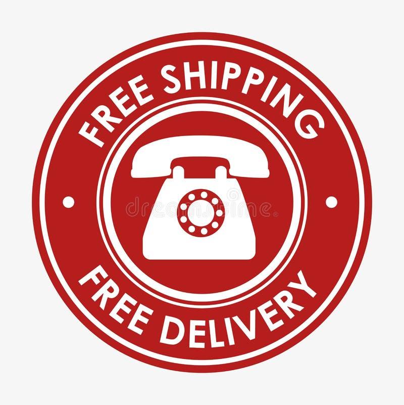 ελεύθερο σχέδιο τηλεφωνικών εμβλημάτων ναυτιλίας διανυσματική απεικόνιση