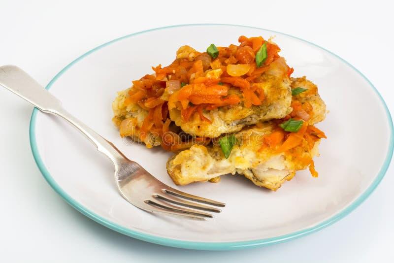 Ελληνικά πιάτα ψαριών και συνταγή στοκ φωτογραφία με δικαίωμα ελεύθερης χρήσης