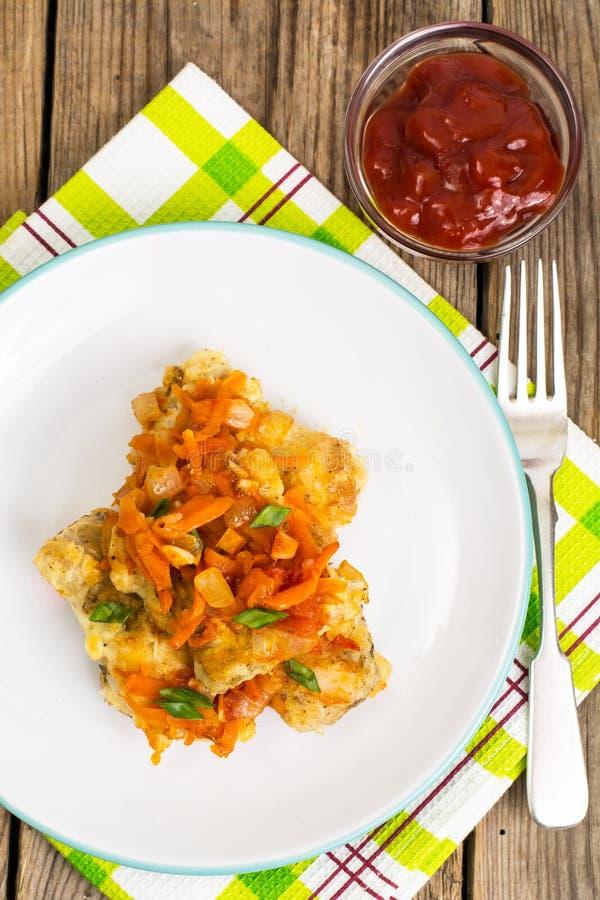Ελληνικά πιάτα ψαριών και συνταγή στοκ εικόνες με δικαίωμα ελεύθερης χρήσης