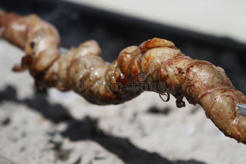 Ελληνικά τρόφιμα κρέατος στη σχάρα στοκ εικόνες