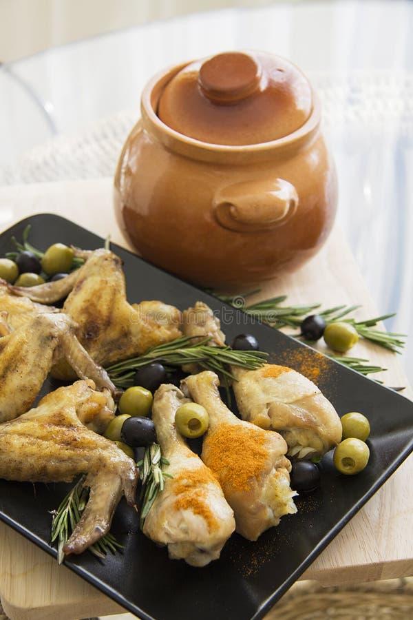 Ελληνικά ψημένα φτερά στοκ εικόνες