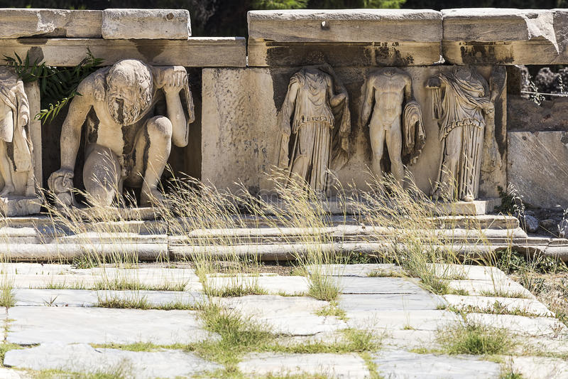 Ελληνικές καταστροφές στοκ εικόνες