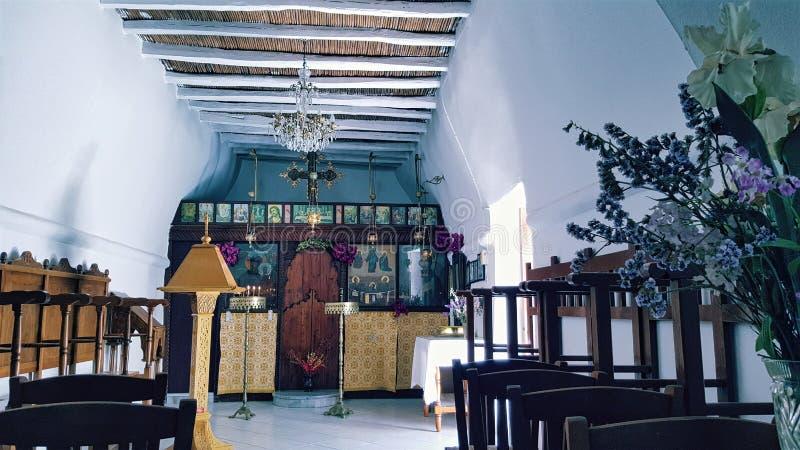 Ελληνική Ορθόδοξη Εκκλησία σε Parikia, νησί Paros, Ελλάδα στοκ φωτογραφίες με δικαίωμα ελεύθερης χρήσης