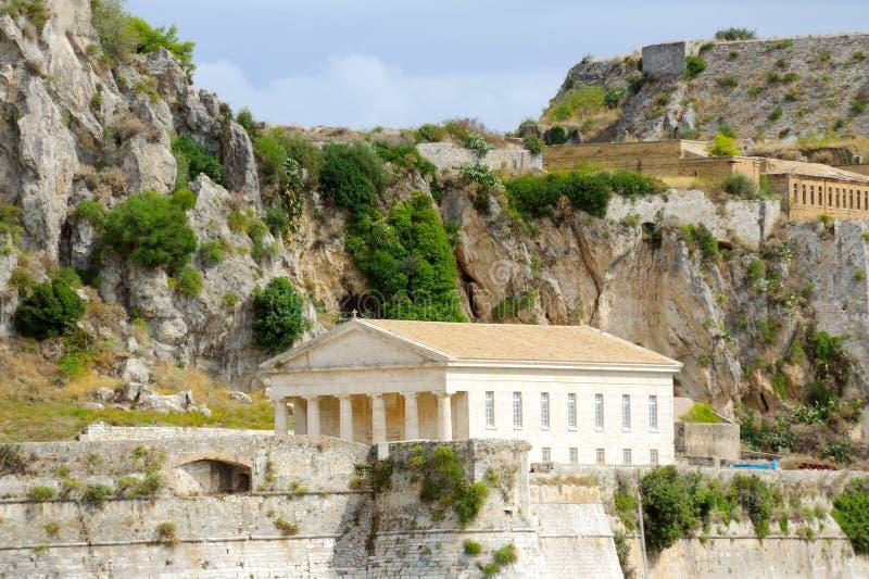 Ελληνικός ναός, Κέρκυρα, Ελλάδα στοκ φωτογραφία