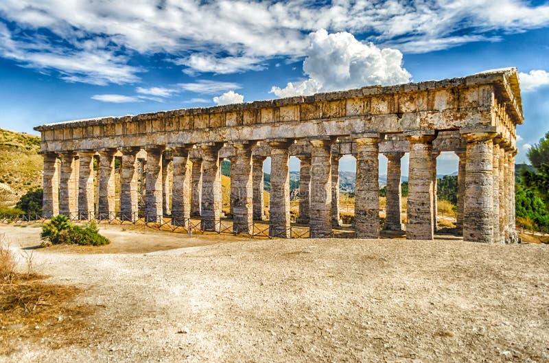 Ελληνικός ναός Segesta στοκ φωτογραφία
