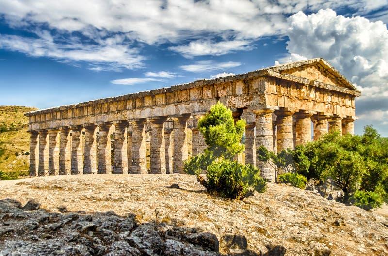 Ελληνικός ναός Segesta στοκ εικόνα