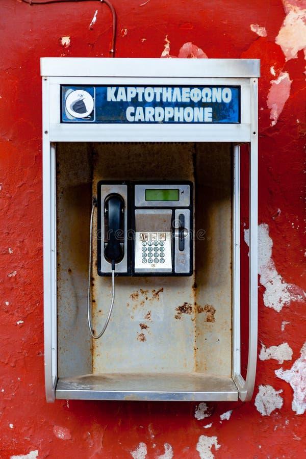Ελληνικός τηλεφωνικός θάλαμος στοκ φωτογραφίες