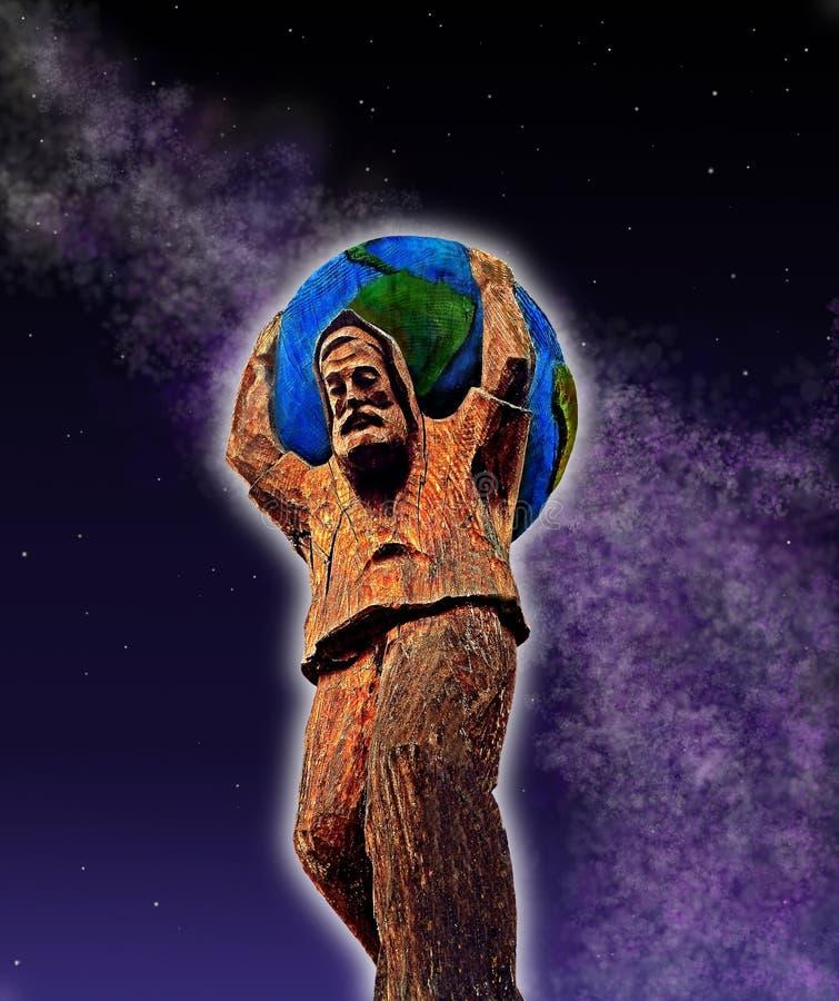 Ελληνικό άγαλμα ατλάντων ελεύθερη απεικόνιση δικαιώματος