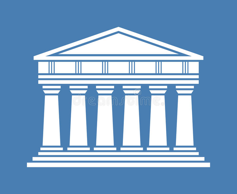 Ελληνικό εικονίδιο ναών αρχιτεκτονικής διανυσματική απεικόνιση