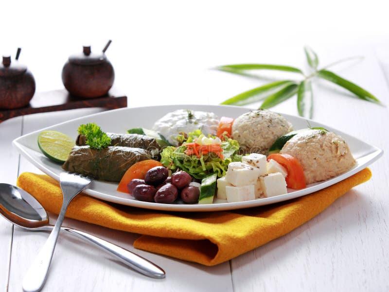 Ελληνικό χορτοφάγο pikilia μιγμάτων τροφίμων στοκ εικόνες
