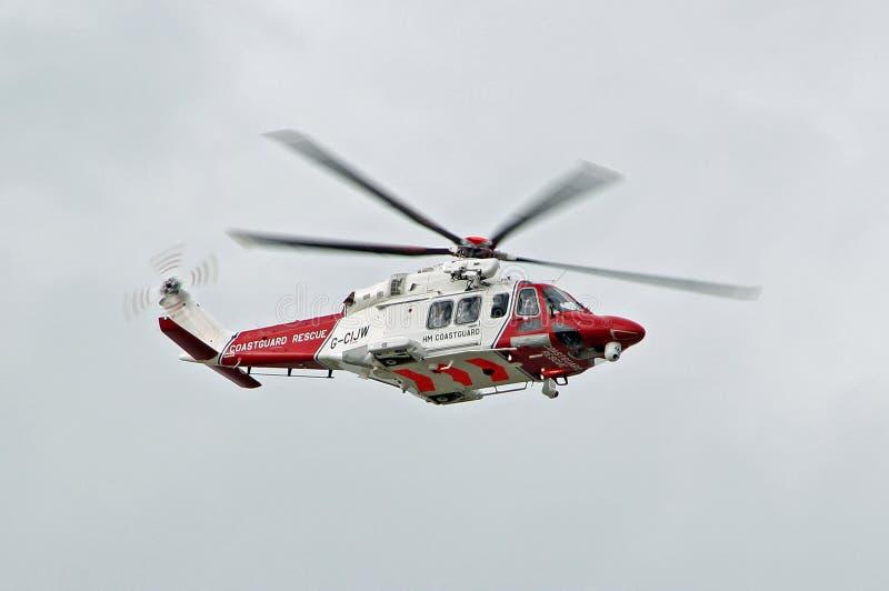Ελικόπτερο διάσωσης ακτοφυλακών στοκ εικόνες