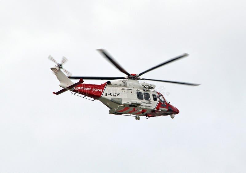 Ελικόπτερο διάσωσης ακτοφυλακών στοκ εικόνα με δικαίωμα ελεύθερης χρήσης