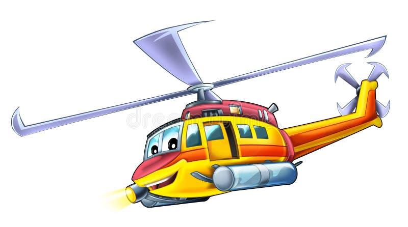 Ελικόπτερο κινούμενων σχεδίων ελεύθερη απεικόνιση δικαιώματος