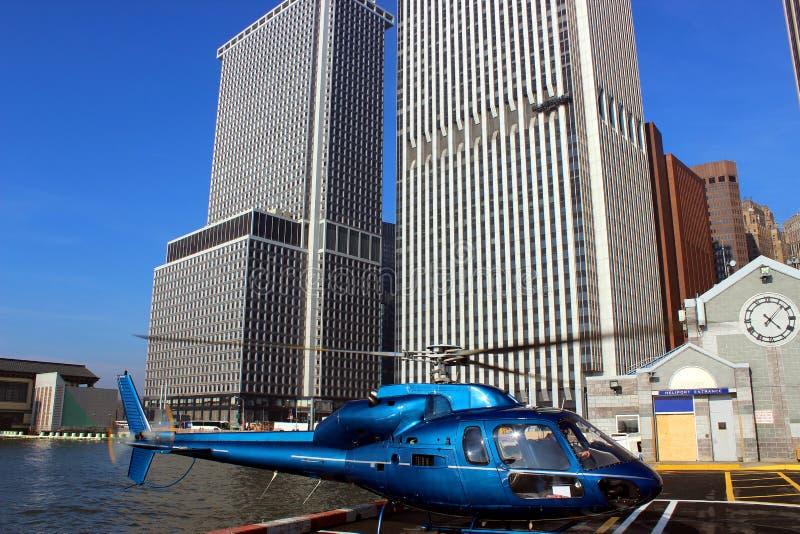 Ελικόπτερο πόλεων της Νέας Υόρκης στοκ εικόνες