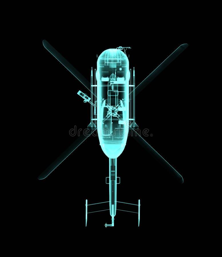 Ελικόπτερο στην ακτίνα X απεικόνιση αποθεμάτων