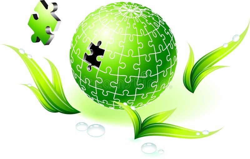 Ελλιπής φυσικός πράσινος γρίφος σφαιρών ελεύθερη απεικόνιση δικαιώματος