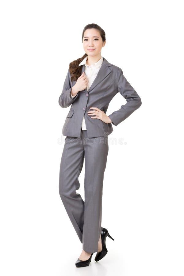 Ελκυστική επιχειρησιακή γυναίκα Ασιάτη στοκ εικόνες