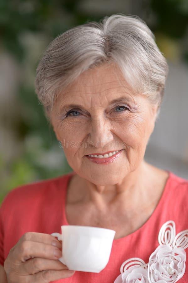 Ελκυστική ηλικιωμένη γυναίκα στοκ φωτογραφία με δικαίωμα ελεύθερης χρήσης