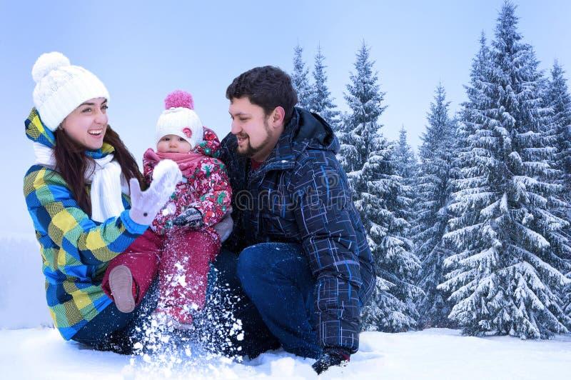 Ελκυστικοί άνδρας, γυναίκα και παιδί στοκ φωτογραφία με δικαίωμα ελεύθερης χρήσης