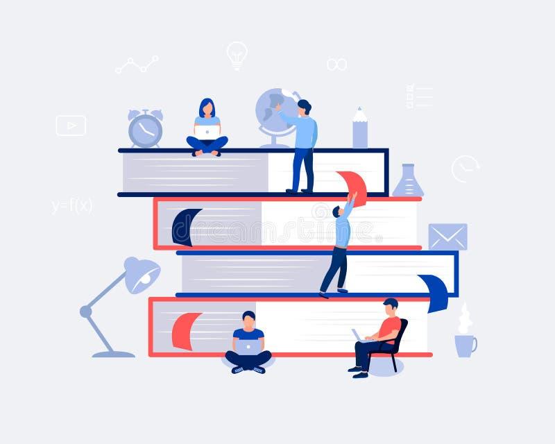 Ε-μαθαίνοντας, σε απευθείας σύνδεση έννοια σχεδίου εκπαίδευσης απεικόνιση αποθεμάτων