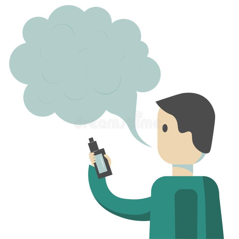 Ε-τσιγάρο Vaping απεικόνιση αποθεμάτων