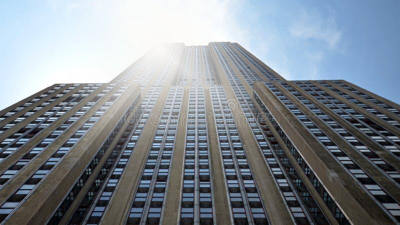 Εmpire State Building με τον ήλιο στοκ εικόνες με δικαίωμα ελεύθερης χρήσης
