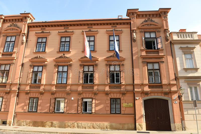 Ζάγκρεμπ, Κροατία - 18 Αυγούστου 2017: Κροατικό Συνταγματικό Δικαστήριο στοκ φωτογραφίες