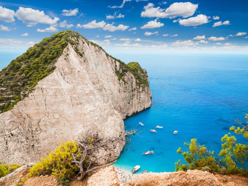 Ζάκυνθος - Navagio, Ελλάδα στοκ εικόνα με δικαίωμα ελεύθερης χρήσης